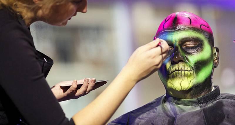 maquillaje halloween hombre calavera