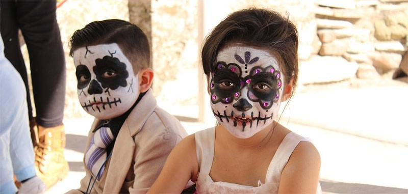 Maquillaje Catrina Infantil