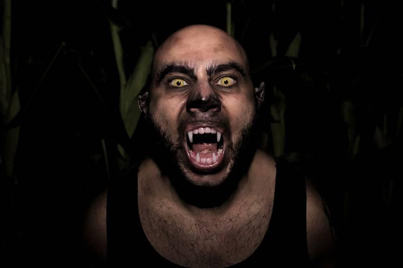 maquillaje halloween hombre lobo