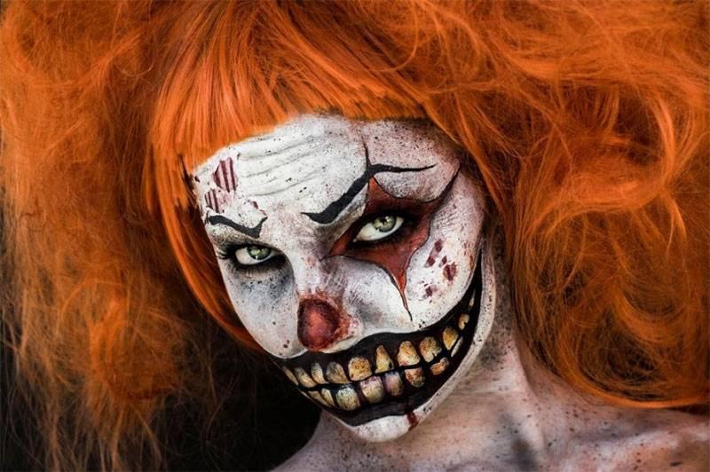 maquillaje halloween payaso mujer
