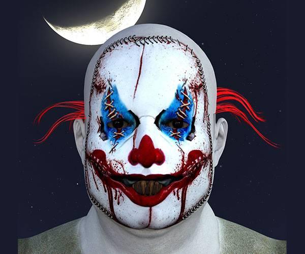 maquillaje payaso asesino