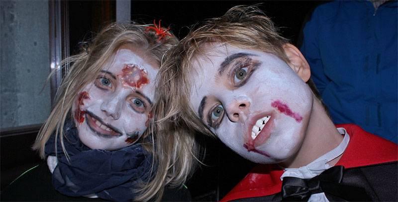 maquillaje vampiro niño